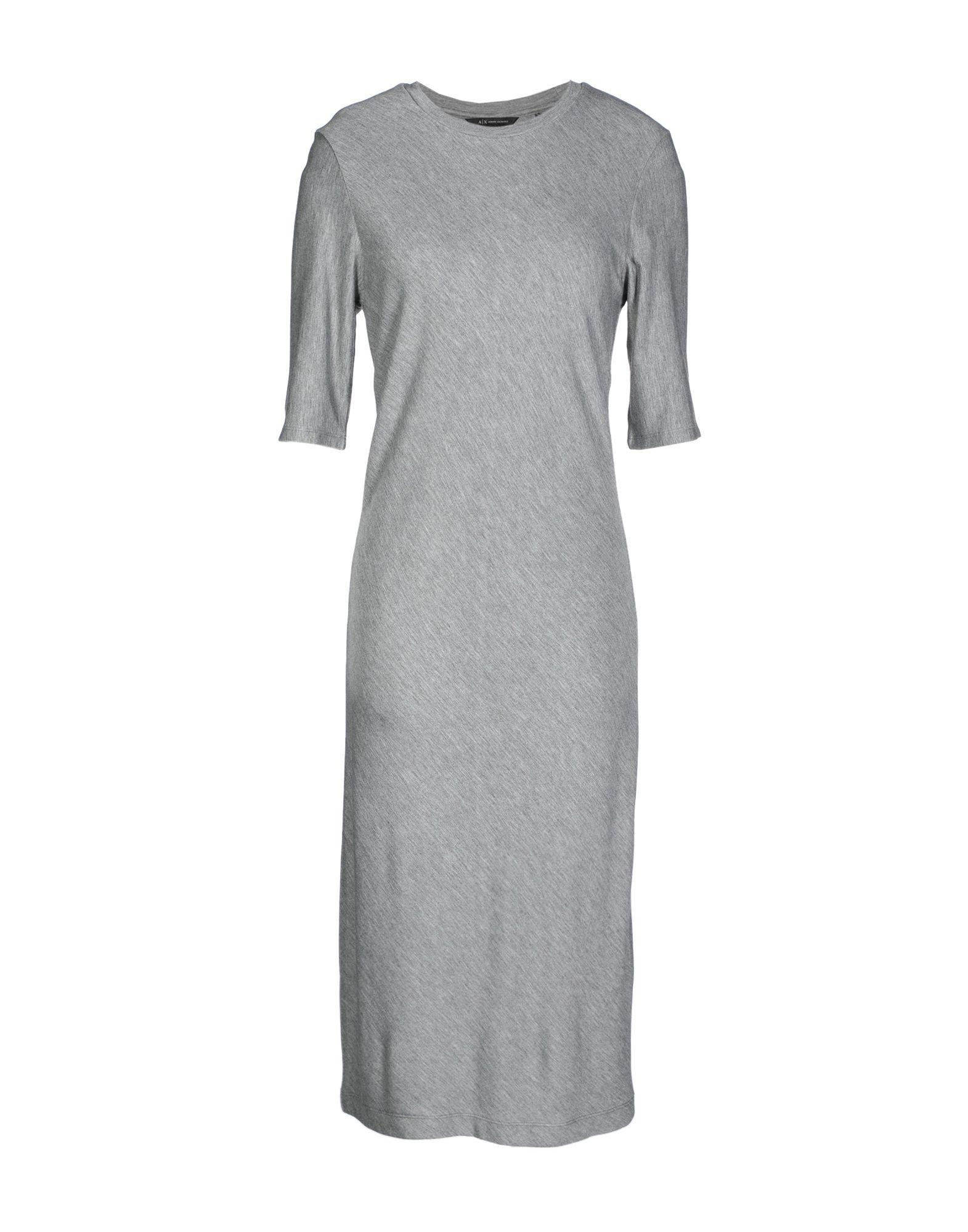 Armani Exchange Knee-length Dresses In Grey
