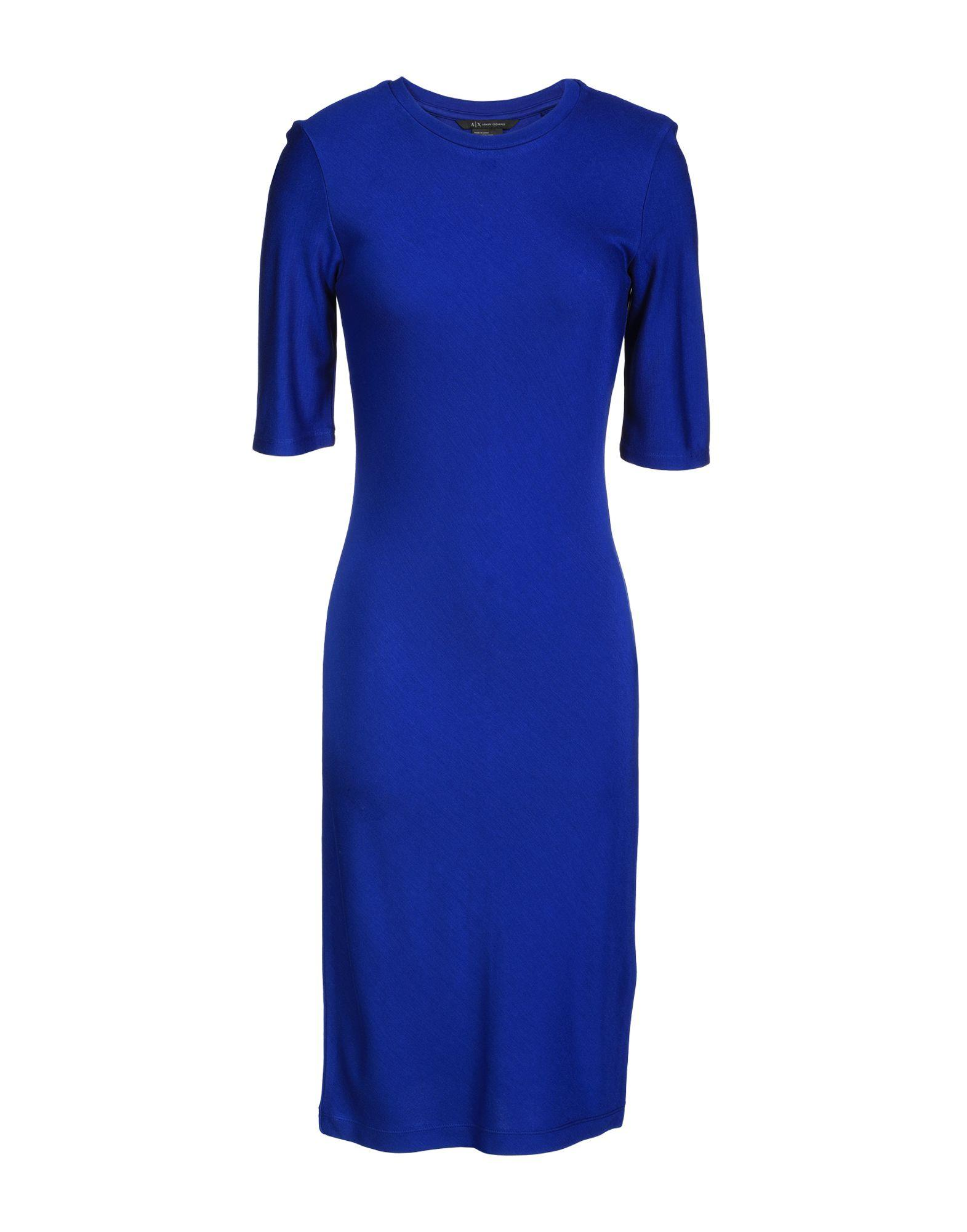Armani Exchange Knee-length Dresses In Bright Blue