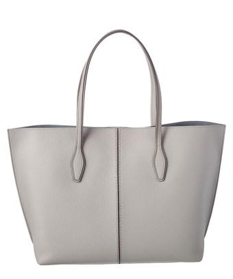Tod's Tods Joy Large Leather Tote In Grey