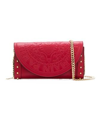 Balmain Women's  Red Leather Shoulder Bag