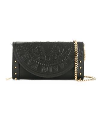 Balmain Women's  Black Leather Shoulder Bag