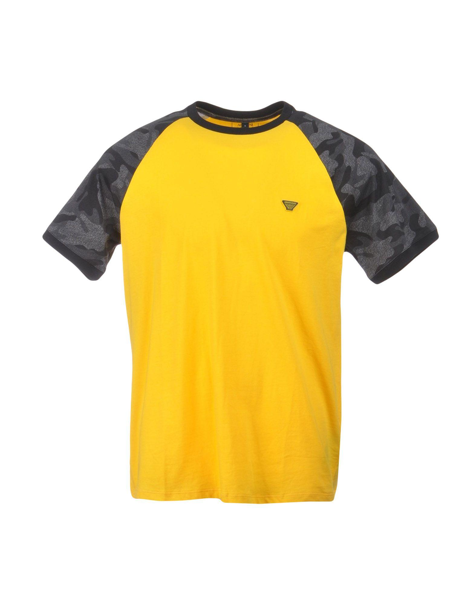 Armani Jeans T-shirts In Yellow