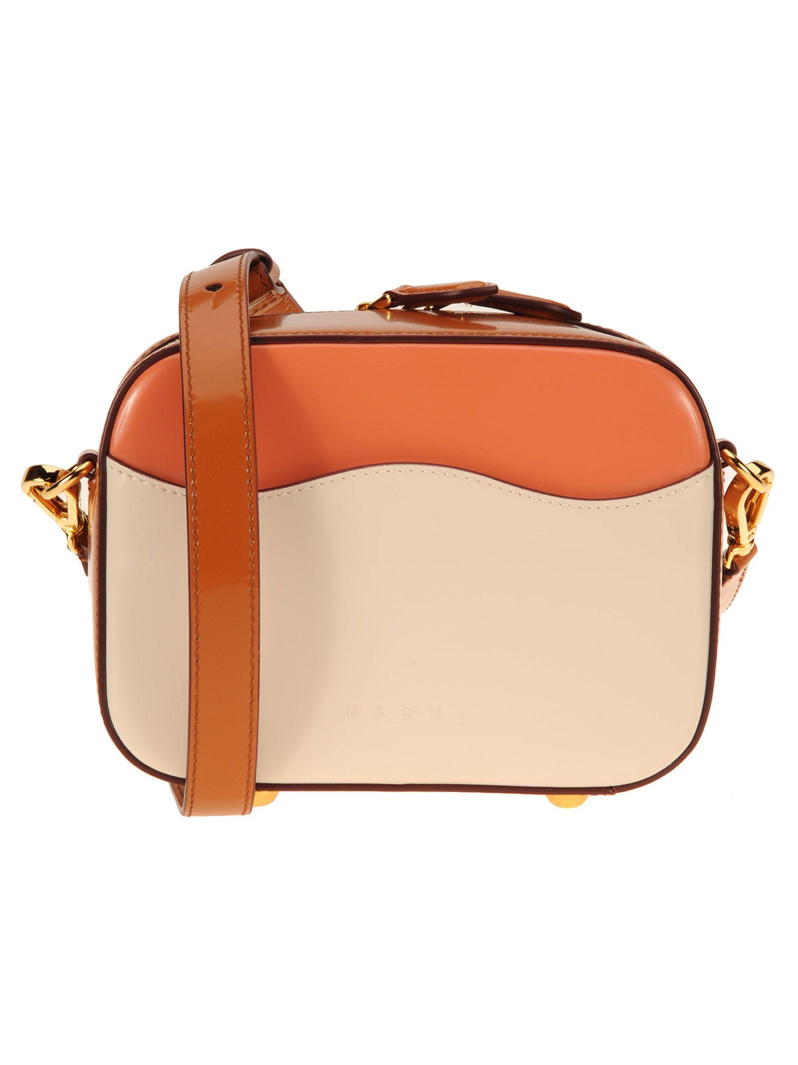 Marni Shell Small In Rose/beige