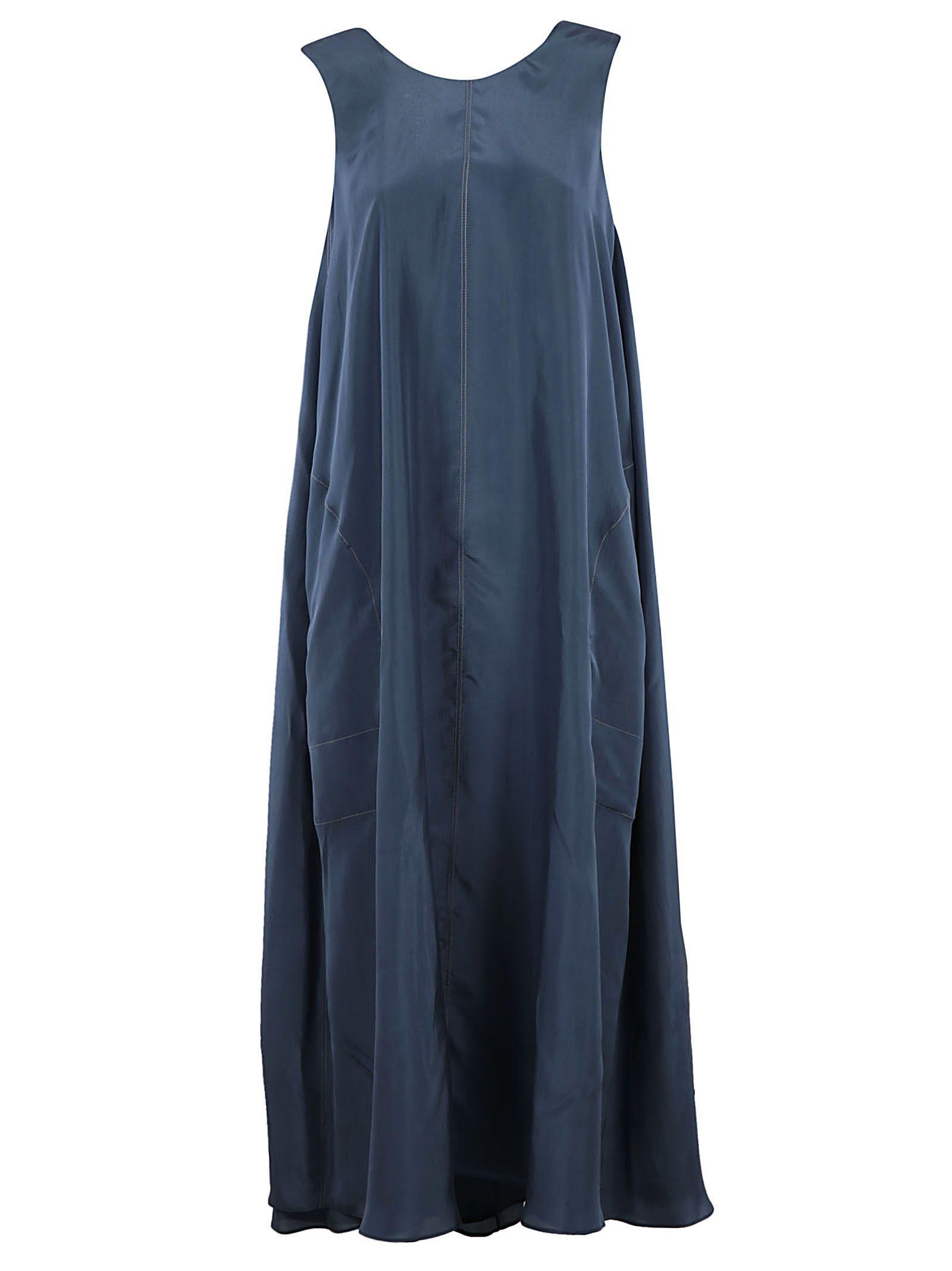 Brunello Cucinelli Flared Dress In Carta Zucchero