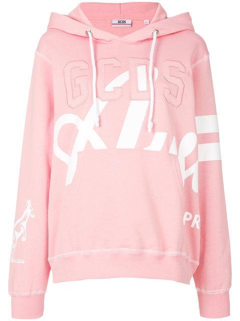 Gcds Logo Hoodie - Pink