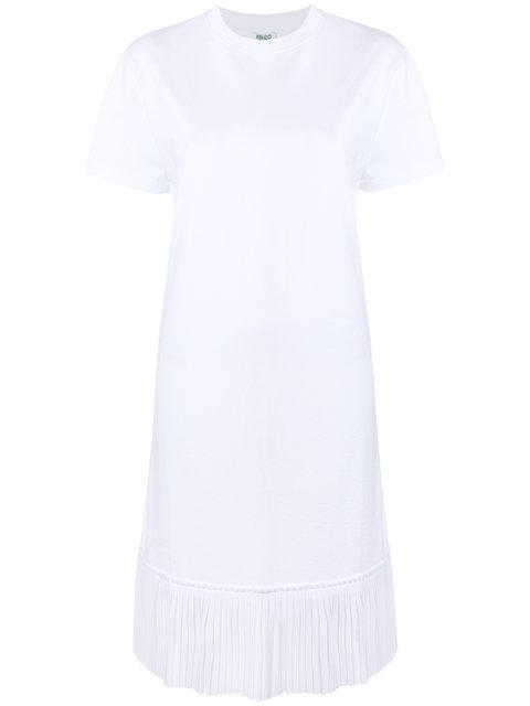 Kenzo Pleated Hem T-shirt Dress