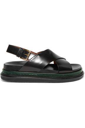 Marni Woman Leather Sandals Black