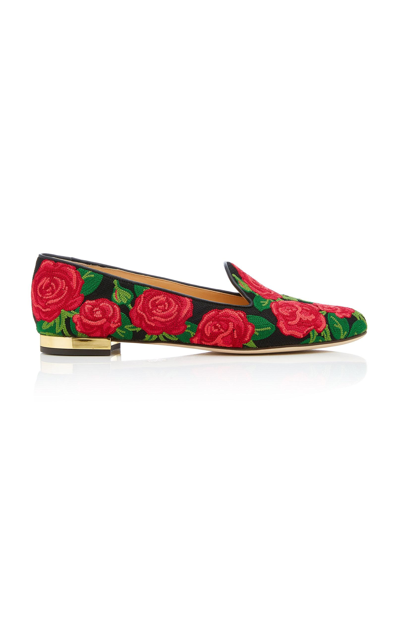 Charlotte Olympia M'o Exclusive: Rose Loafer In Floral