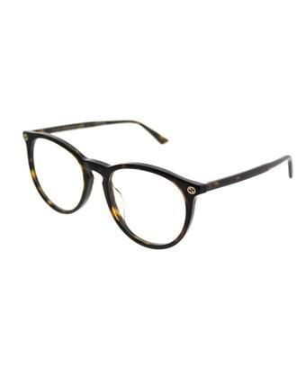 Gucci Asian Fit Gg0027oa 002 Havana Round Eyeglasses