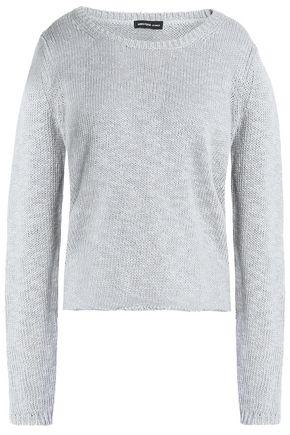 James Perse Woman Cotton And Linen-blend Sweater Light Gray