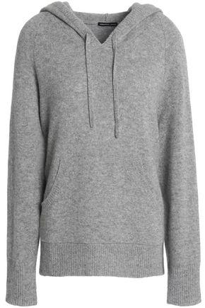 James Perse Woman Cashmere Hooded Sweater Gray In Blue