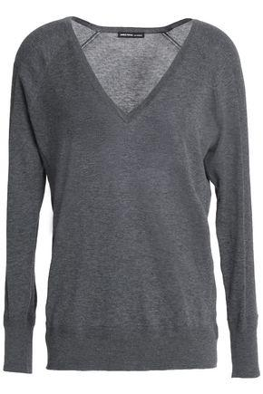 James Perse Woman MÉlange Cotton Sweater Dark Gray