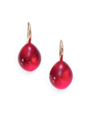 Pomellato Rouge Passion Burma Cabochon Drop Earrings In Ruby