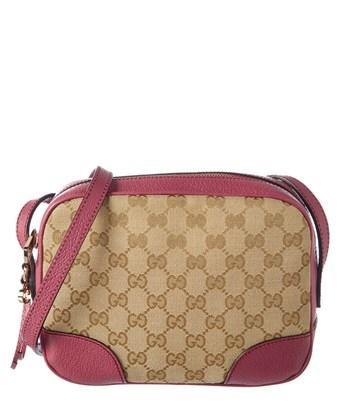 Gucci Pink Gg Supreme Canvas Bree Crossbody In Nocolor