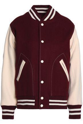 Marc Jacobs Woman AppliquÉd Wool-blend Bomber Jacket Merlot