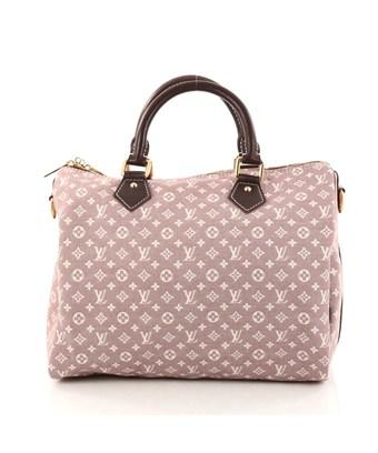 Louis Vuitton Pre-owned: Speedy Bandouliere Bag Monogram Idylle 30 In Purple