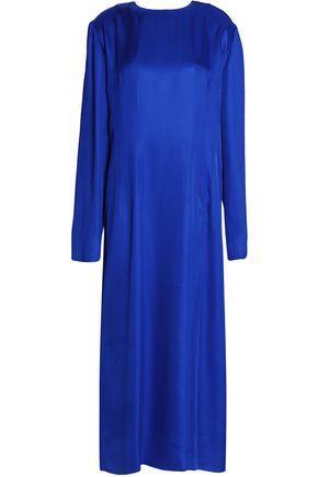 Marni Woman Satin Midi Dress Royal Blue