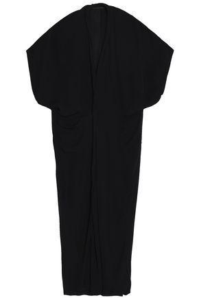 Haider Ackermann Woman Draped Silk Maxi Dress Black