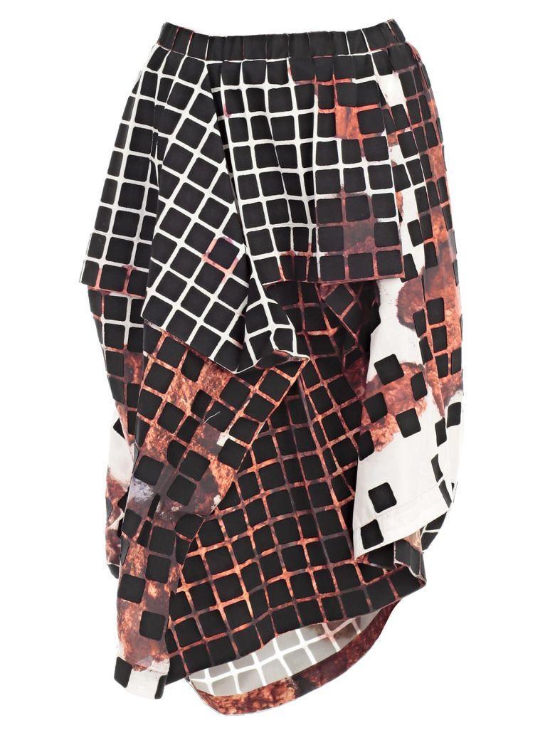 Issey Miyake Skirt In Orange Hued