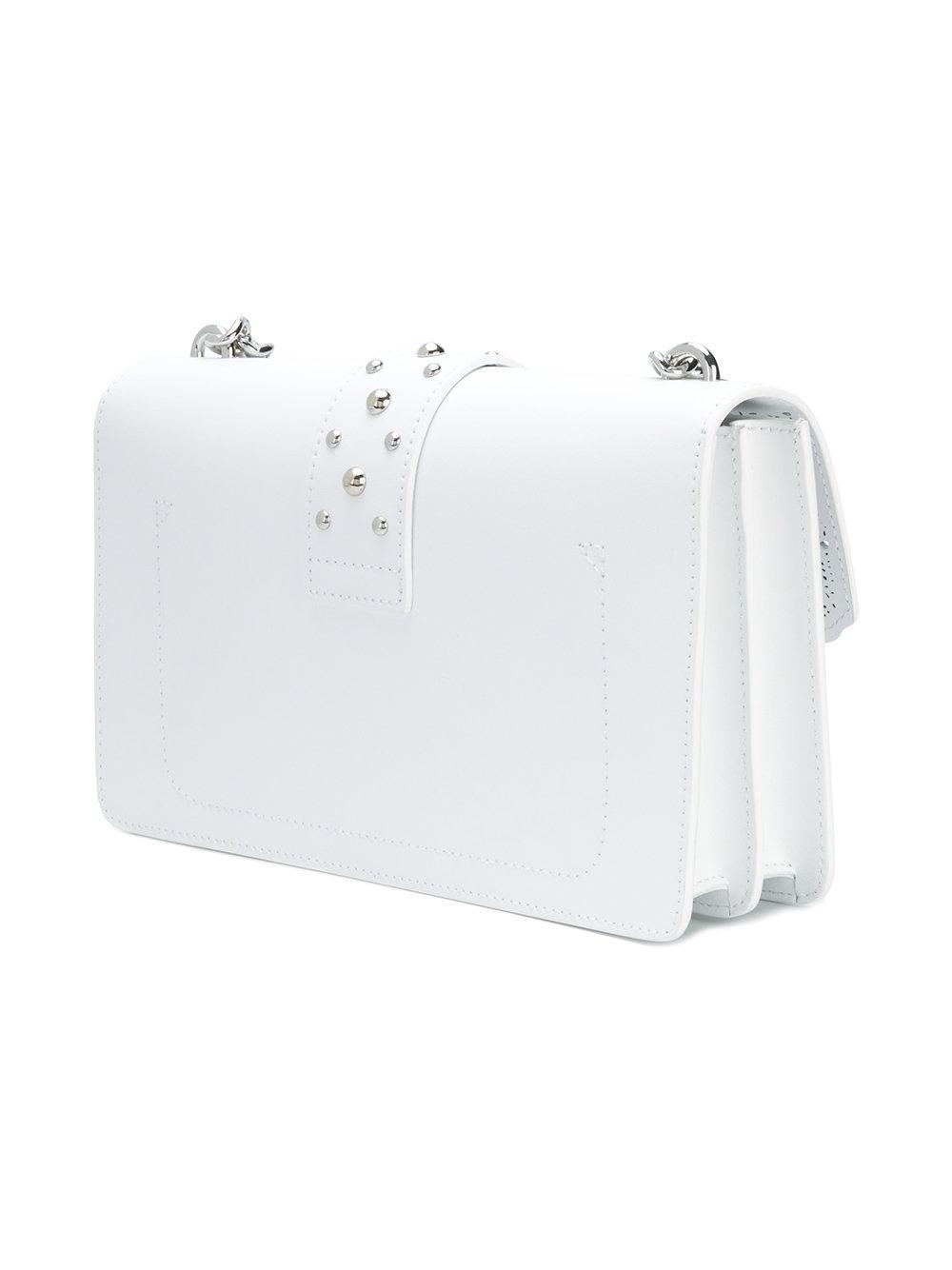 Pinko Laser-cut Shoulder Bag