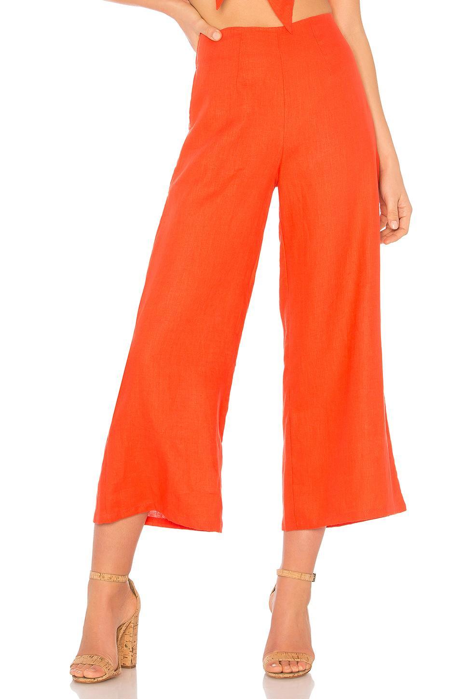 Faithfull The Brand Tomas Pants In Orange
