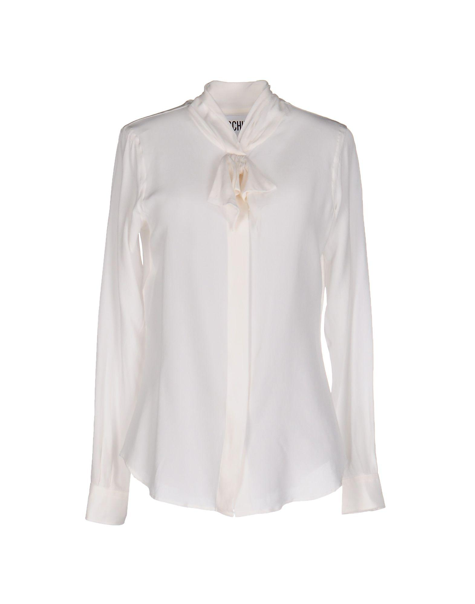 Moschino Shirts & Blouses With Bow In White