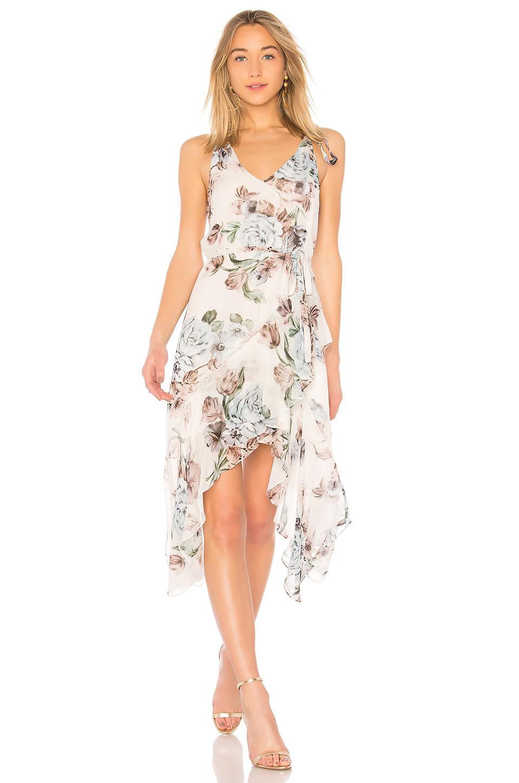 Lover Posy Slip Dress In Ivory
