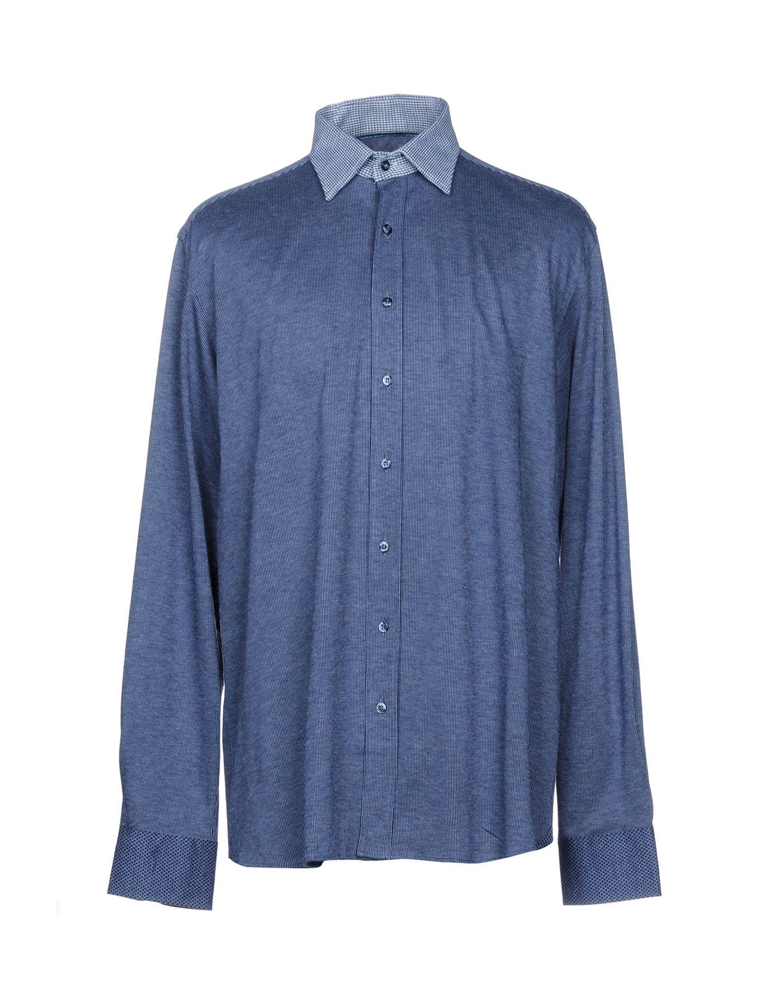 Etro Striped Shirt In Dark Blue