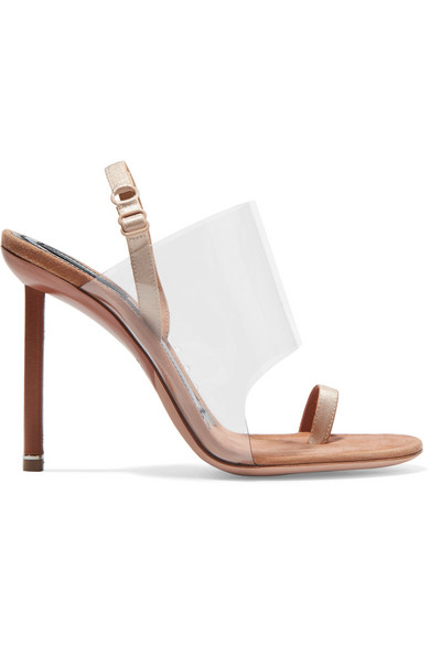 971c7896224 Kaia Pvc And Suede Slingback Sandals in Neutrals