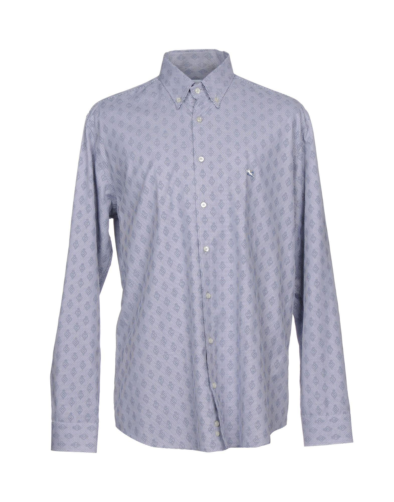 Etro Patterned Shirt In Dark Blue