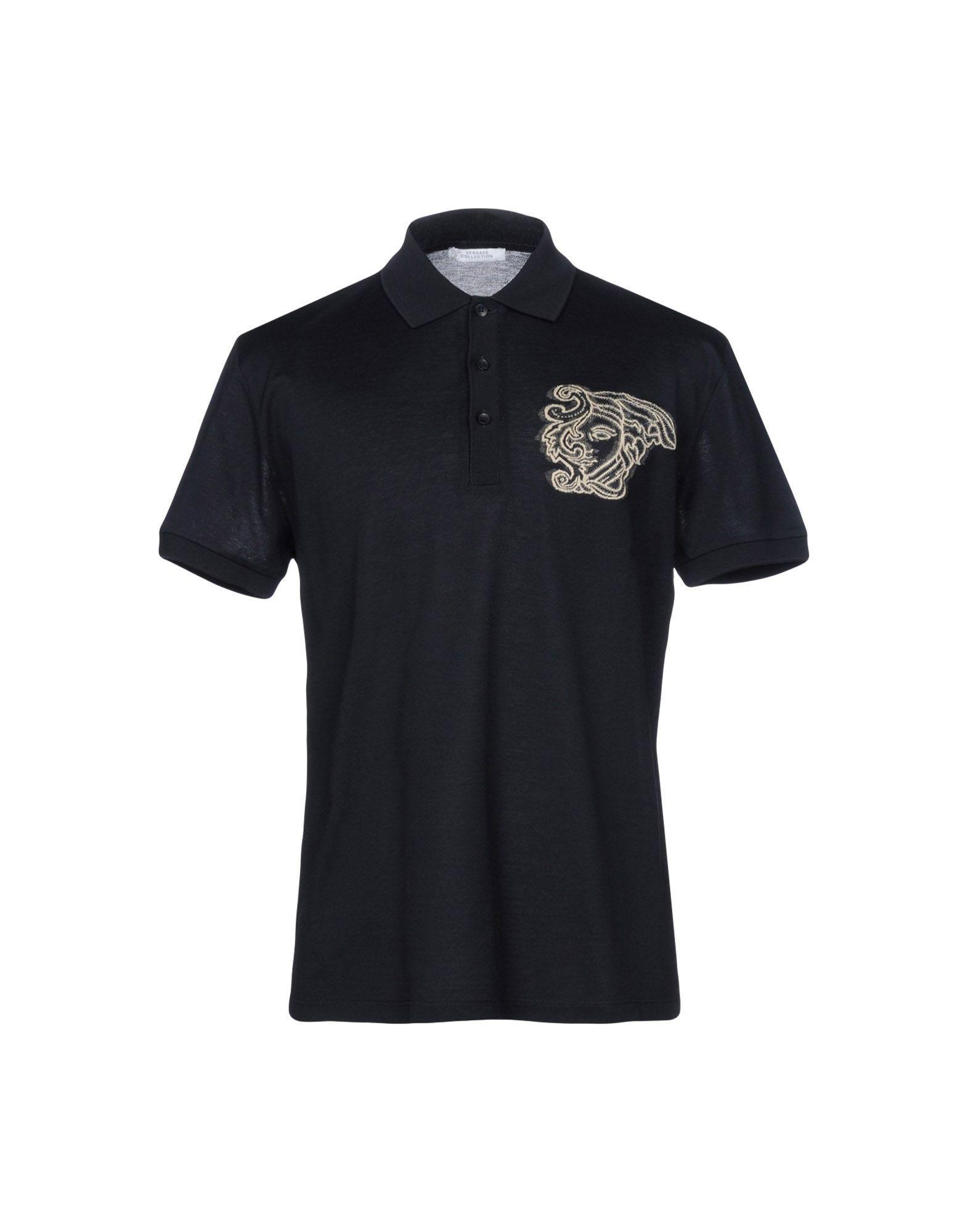 Versace Medusa Polo Shirt In Dark Blue
