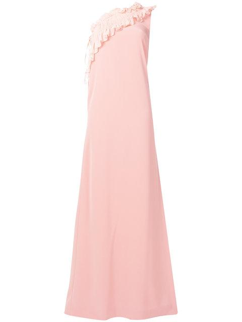 Lanvin Ruffled One-shoulder Gown