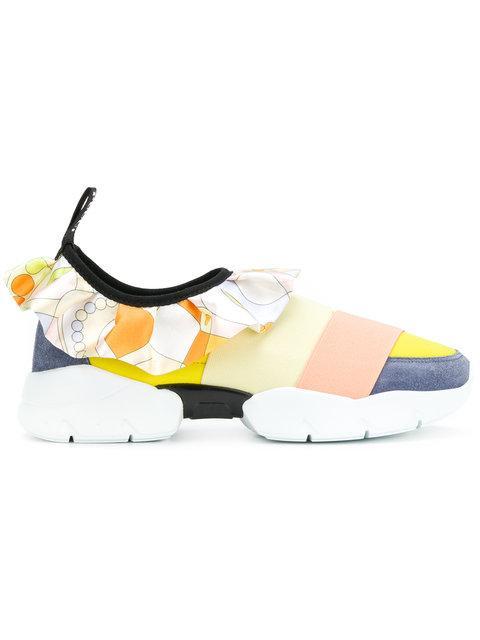 Emilio Pucci Ruffle Strap Sneakers