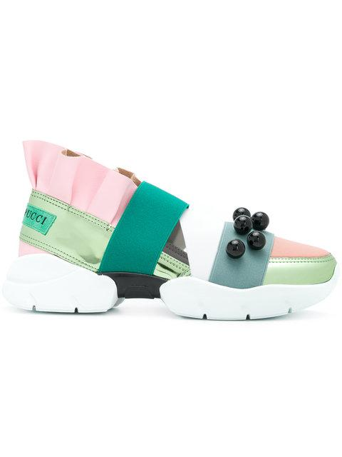 Emilio Pucci Ruffle Platform Sneakers