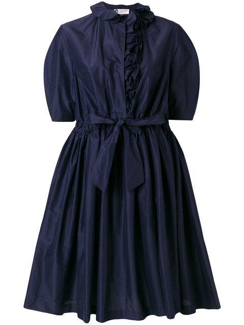 Lanvin Frill Trim Buttoned Dress