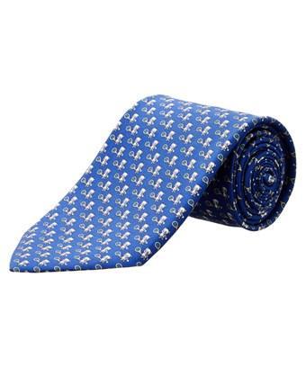 Salvatore Ferragamo Blue Bear Silk Tie In Nocolor
