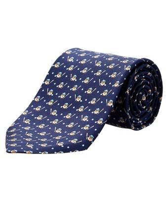Salvatore Ferragamo Blue Bird Silk Tie In Nocolor