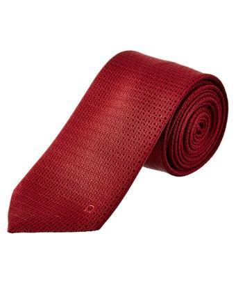 Salvatore Ferragamo Red Gancini Silk Tie In Nocolor
