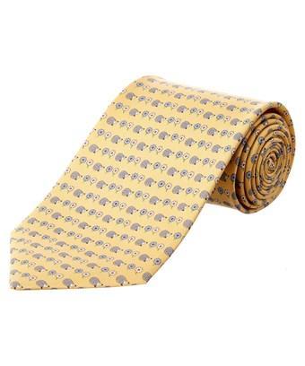 Salvatore Ferragamo Gold Silk Tie
