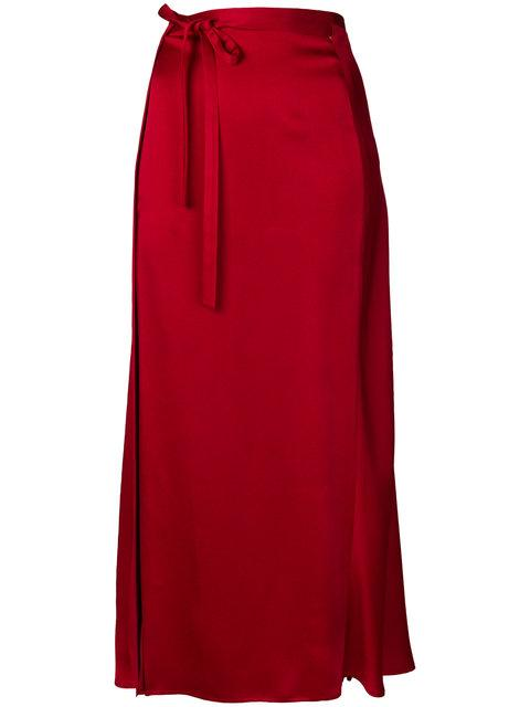 Haider Ackermann Red High-waisted Skirt