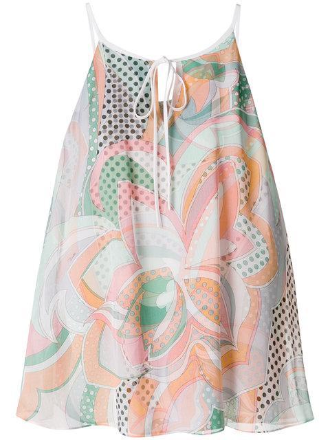 Emilio Pucci Printed Sleeveless Blouse