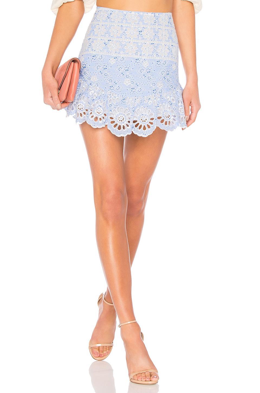 Karina Grimaldi Rimini Skirt In Baby Blue
