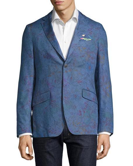 Etro Paisley-print Sateen Jacket, Navy