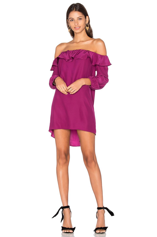 Amanda Uprichard Joanna Dress In Fuchsia