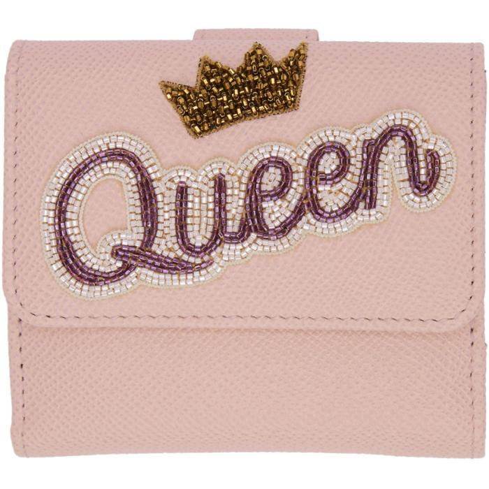 Dolce & Gabbana Dolce And Gabbana Pink Queen Flap Wallet In 8h402 Rose
