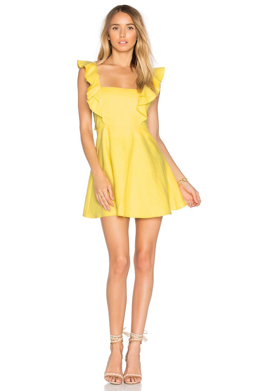 Karina Grimaldi Ulises Mini Dress In Yellow