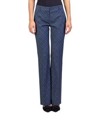 Prada Women's Virgin Wool Stripe Print Slim Fit Pants Brown