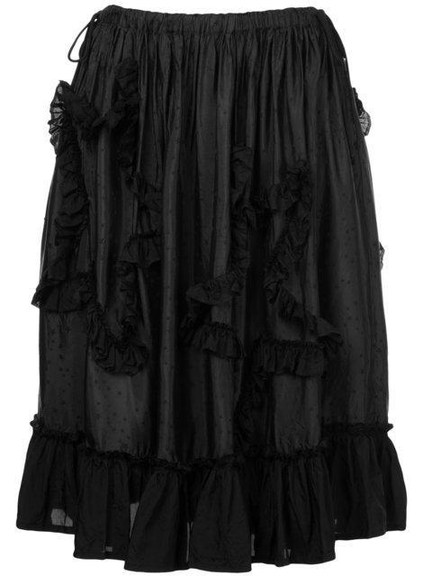 Miyao Ruffled A-line Skirt
