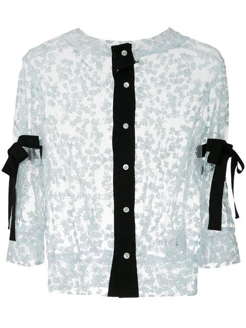Miyao Lace Band Collar Shirt