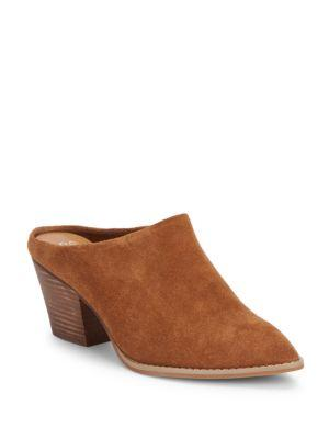 Seychelles Intrigue Point-toe Leather Mules In Cognac